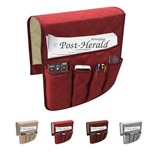 Tasca portaoggetti multiuso per divano, 6scomparti, porta telecomando, impermeabile red