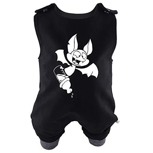 dung Baby Strampler Die Milchvampir-Bande - Niklas, der kleine Milchvampir Unisex Rockabilly Rock´n Roll Gothic schwarz (68/74) ()