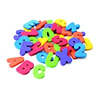 lujiaoshout 36 Pieces Educational Bath Toys Floating Alphabet Learning Letters Pool Toy Set for Baby Toddler Kids