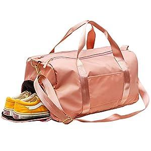 C100AE Bolsa Deporte y Viaje para Mujer y Hombre, Bolsa de Viaje Bolsa de Gimnasio con Compartimento para Zapatos y Ropa Mojada, Multiuso como Mochila Plegable, Bolsa de Hombro Weekend Bag Duffle Bag