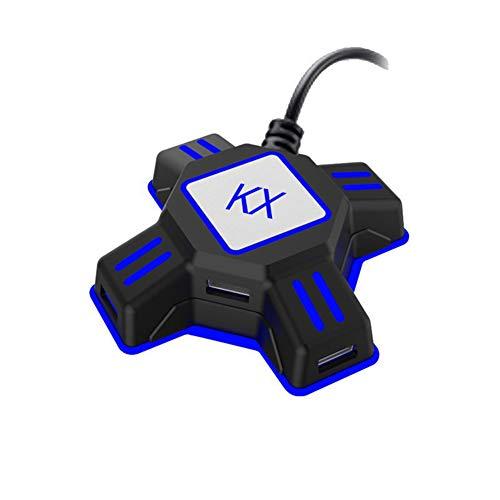 FeiyanfyQ KX USB-Spiele-Controller Konverter Tastatur Maus Adapter für Switch/Xbox / PS4 / PS3, Schwarz - Maus-usb-konverter