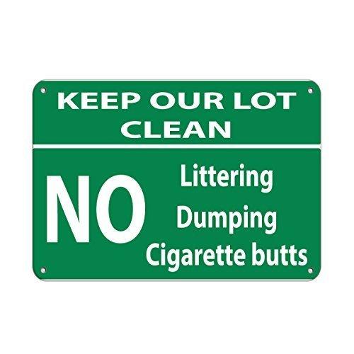 Keep Our Viel reinigen Abfall Dumping Zigarette Kolben Funny Geschenk für Damen Outdoor-Metall Aluminium Schild (Damen-kolben)