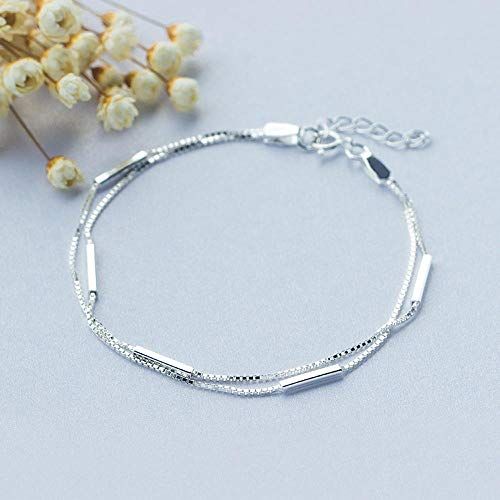 Liudaye S925 Silber Armband Doppelte Ornament Lady Geschenk