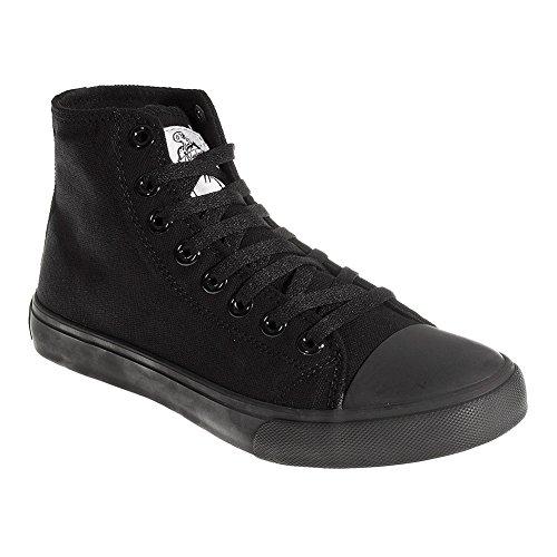 Sneaker hi top bleeding heart (nero all black) - 42