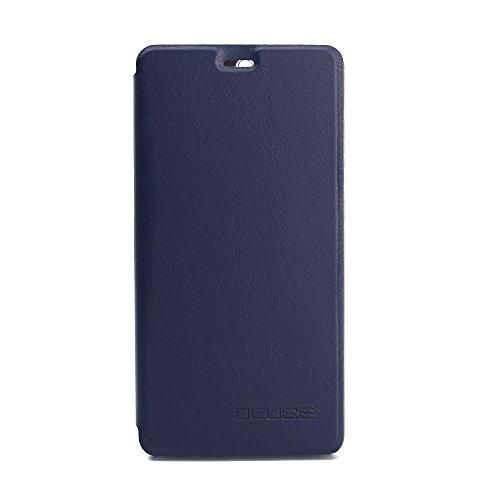 Frlife Hülle für Leagoo T5, Bookstyle Handyhülle Premium PU-Leder klapptasche Case Brieftasche Etui Schutz Hülle für Leagoo T5 Blau