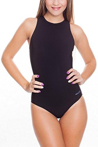 Aqua Speed BLANKA Badeanzug Damen | Athleten-Sportanzug | Schwimmanzug | Wettkampf Schwimmen Größe: 42 Farbe: Schwarz
