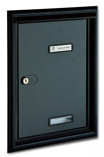 Puerta Postale Para Exterior empotrable a pared Silmec-Barnizado gris hierro