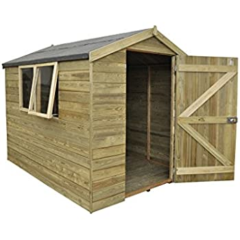 Forest Garden Tongue Groove Garden Shed Pressure Treated