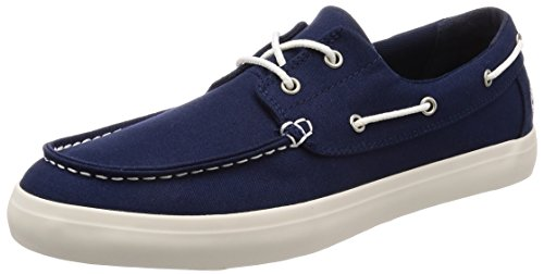 Timberland newport bay 2-eye, mocassini uomo, blu (black iris canvas 019), 44.5 eu