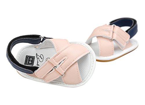 EOZY Bas Marche Sandales Bébé Fille Chaussures Princesse Été Shoes Première Pas Casual Rose