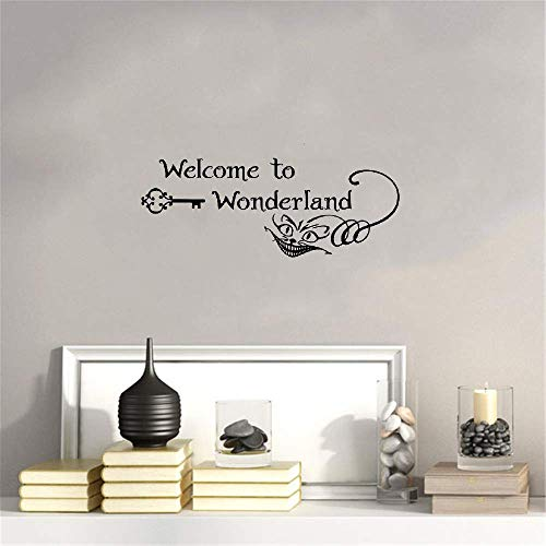 Wandaufkleber Kinderzimmer Wandtattoo Wohnzimmer Willkommen im Wunderland Alice im Wunderland Cheshire Cat Smile, Kinderzimmer Art Home Decor (Cheshire Im Cat-alice Wunderland)