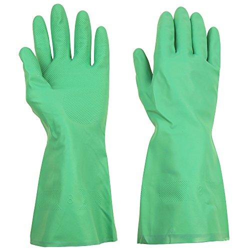 thxtoms Haushalt Nitril Handschuhe, die effektiv gegen Öl, Säuren, Laugen und Lösungsmittel, 1Paar (Heavy-duty-haushalts-handschuhe)