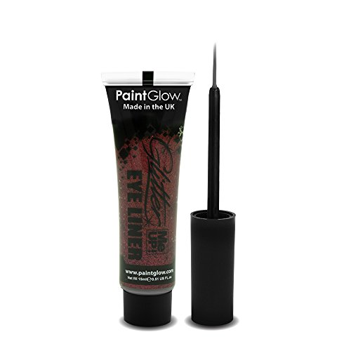PaintGlow Glitter Eyeliner with Applicator Red 15ml