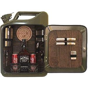 Die Männerbar für echte Kerle für Flasche und Getränkedosen – genialer Kanister als Männergeschenk/Männerhandtasche für…