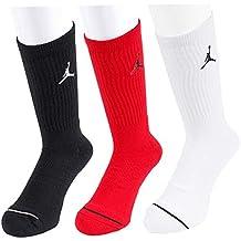 Nike Jumpman Crew 3Ppk Calcetines Línea Michael Jordan, Hombre, Negro (Black/White