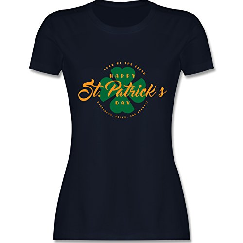 St. Patricks Day - St. Patricks Day Luck of The Irish - Damen T-Shirt Rundhals Navy Blau