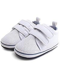 c2cd3e4d2fa84 DELEBAO Chaussons Bébé Cuir Souple Chaussure Cuir Bébé Chaussures Premiers  Pas Chaussure de Marche ...