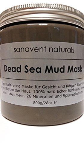 Dead Sea Mud Mask - 800g - regenerierende Maske aus 100% Totem Meer Schlamm für Gesicht und Körper -