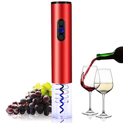 Godmorn Elektrischer Korkenzieher Automatisch Professionell Weinöffner Flaschenöffner mit Folienschneider, Perfekt als Geschenk, LED-Leuchten, Batteriebetrieben
