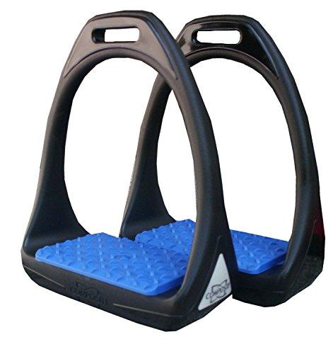 Plastique Étrier Reflex avec surface de pesée Flexible Large Noir/blau| Compositi Étrier en plastique