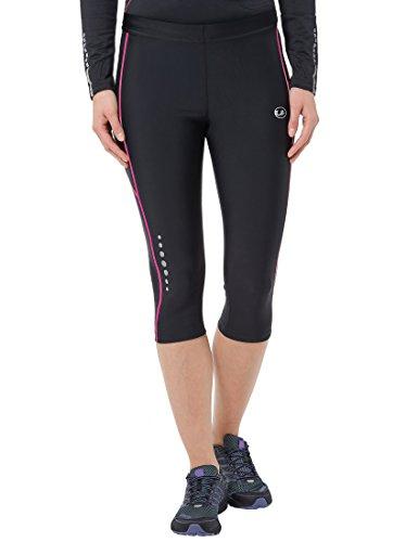 ultrasport-11067-pantalones-cortos-de-correr-para-mujer-color-negro-rosa-neon-talla-m