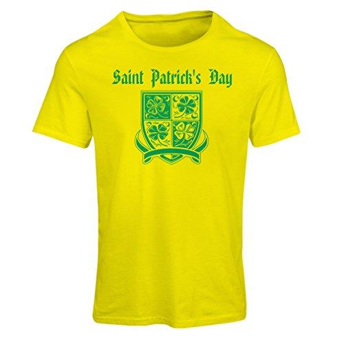 frauen-t-shirt-saint-patricks-day-shamrock-symbol-irish-party-time-xx-large-gelb-mehrfarben