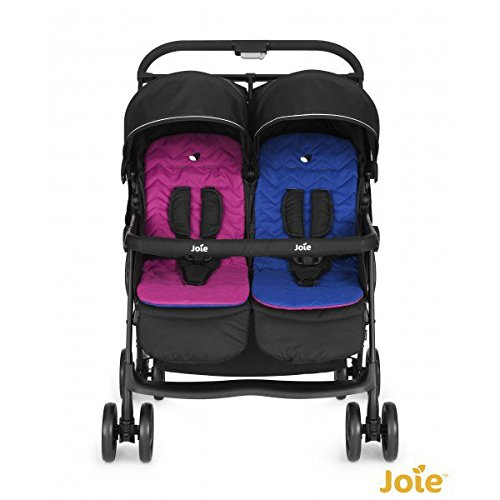 Joie Aire Twin Zwillingsbuggy inkl. Regenverdeck Pink & Blue