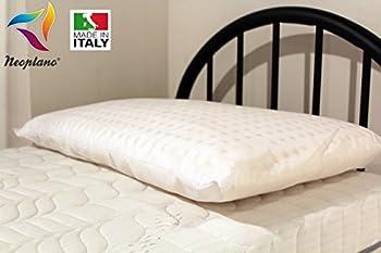 Oreiller en latex naturel Traditionnel en 100% latex et coton, 12 cm, hypoallergénique, antibactérien, résistant aux acariens et coussin de lit respirant