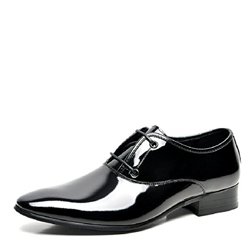Scarpe Abito Da Donna Lace-up Da Uomo Uomo Casual Wedding Oxfords A Punta Di Punta Black