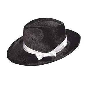 WIDMANN 2902b Gangster sombrero de terciopelo, hombre, color negro