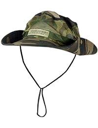 Noir Hommes Kaki Motif Camouflage Rond Bordure Militaire Maille Bucket Casquette Soleil