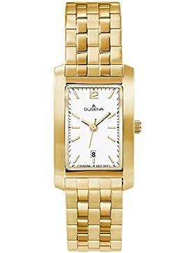 Dugena Damen-Armbanduhr Traditional Classic Analog Quarz Edelstahl beschichtet 4460572