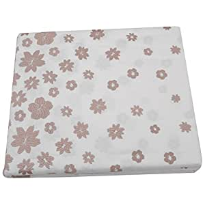 D'Decor Embroidery King Size Bedsheet with 4 Pillow Covers