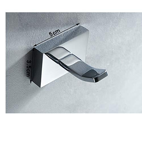 Gu3Je Bath Towel Hooks Modern Solid Brass Chrome Finish Bathroom Robe ,Punch/Punch Free I/Model Punch -
