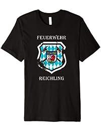 Feuerwehr Reichling Tshirt I Wappen Einhorn FFW