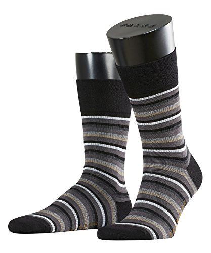 falke sensitive FALKE Herren Socken Sensitive Stripe Gros, Black, 39-42