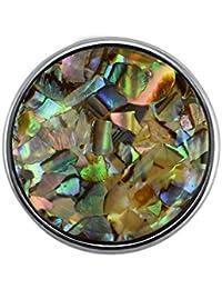 Quiges Eligo Bijoux coloré artificielle Perle plaqué argent de 18mm bouton-pression pour Eligo 18mm Bracelets Button