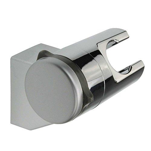 Brausehalter ohne Bohren Neigungswinkel verstellbar ABS verchromt Hält stabil und fest | Wand-Halterung für Duschkopf | Duschhalterung Halterung für Handbrause