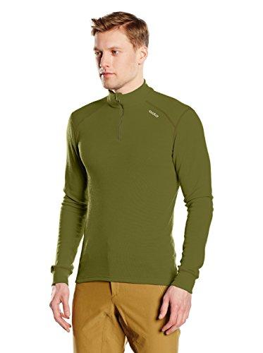 Odlo Herren l/s Turtle Neck 1/2 Zip Warm Shirt Grün