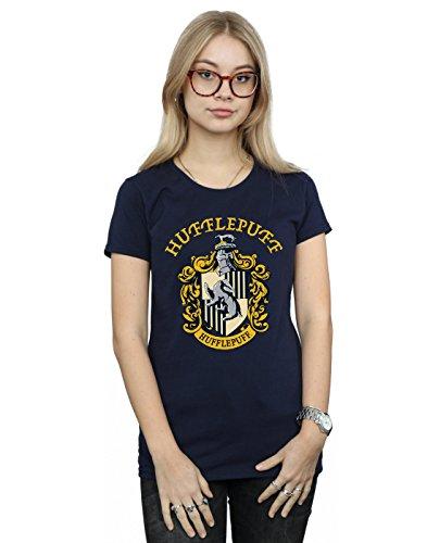 Harry Potter Damen Hufflepuff Crest T-Shirt Navy Blau Medium
