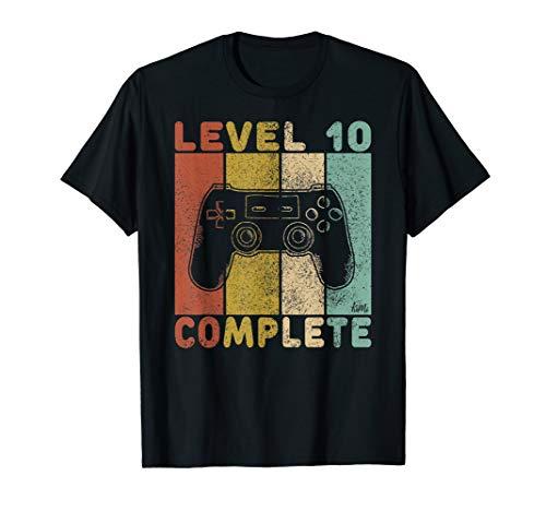 Kostüm Jungs 90's - 10. Geburtstag Jungen Shirt Gamer TShirt Level 10 Complete T-Shirt