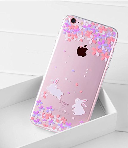 iPhone SE Hülle, iPhone 5S Hülle, iPhone 5 Schutzhülle, Vandot iPhone SE 5 5S Handyhülle Glänzend Malerei Durchsichtig Transparent Muster Pattern Diamant Bling Kristall Case Cover Thin TPU Silikon Wei Color 32