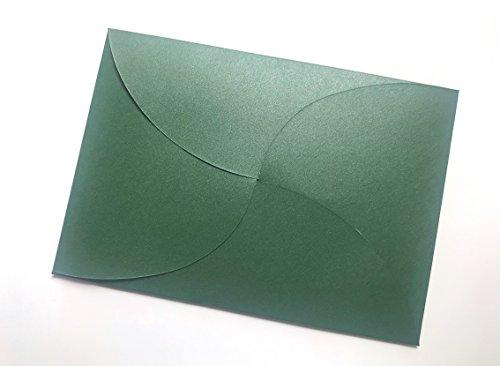 20 grüne Umschläge aus glitzerndem Pearl-Karton, C6 = 162 x 114 mm, z.B. für Einladungen zur Hochzeit, Goldene Hochzeit, Geburtstag