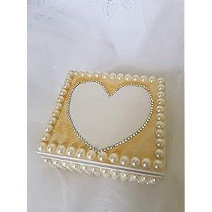 Romantic Rose Blumen Perle Hochzeit Schmuck Ring Kissen ring, komplett handgefertigt.