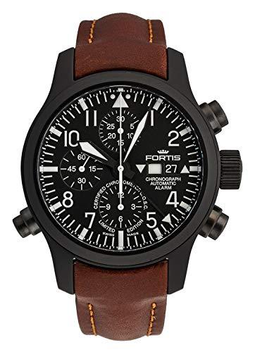 Reloj de Pulsera Fortis B-42 Flieger con cronógrafo y Alarma, edición Limitada, analógico automático COSC 657.18.11 L.18