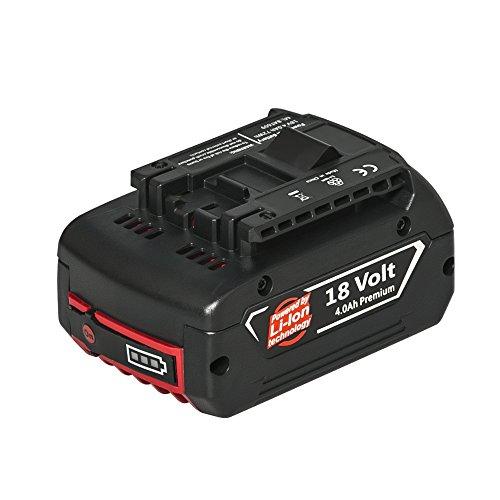 Nebatte 18V 4,0mAh Li-ion Batterie de Replacement pour Bosch 1600A002U5 BAT609 BAT609G BAT618 BAT618G BAT610G BAT619G BAT619 1600A0
