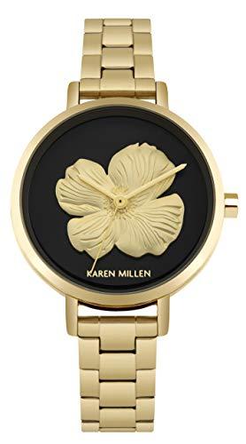 Karen Millen Unisex-Adult Analogue Classic Quartz Watch with Stainless Steel Strap KM126BGM