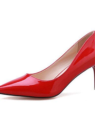 WSS 2016 Chaussures Femme-Décontracté-Noir / Rose / Rouge / Blanc / Argent-Talon Aiguille-Talons-Talons-Laine synthétique pink-us5 / eu35 / uk3 / cn34