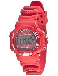 Freestyle AD50703 - Reloj digital de cuarzo para mujer con correa de caucho, color rojo