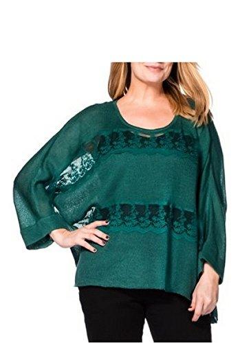 OVERSIZE PULL femmes de Sheego en vert Vert
